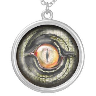 Colar Banhado A Prata olho do dragão