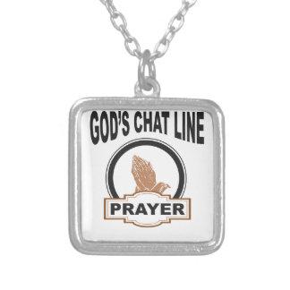 Colar Banhado A Prata oração do bate-papo dos deuses
