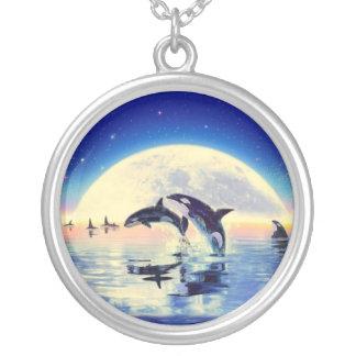 Colar Banhado A Prata Orca da baleia de assassino
