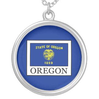 Colar Banhado A Prata Oregon