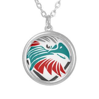 Colar Banhado A Prata Orgulho e proteção de Eagle
