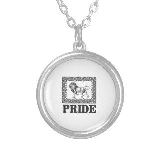 Colar Banhado A Prata Orgulho extravagante do leão
