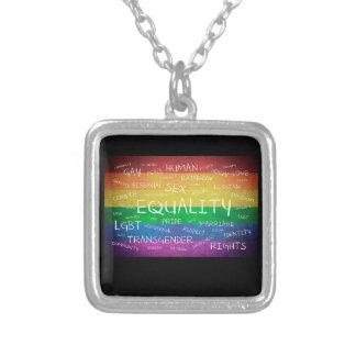 Colar Banhado A Prata Orgulho gay e apoio