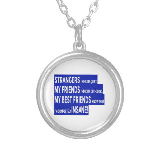 Colar Banhado A Prata Os amigos reais rectificam a amizade
