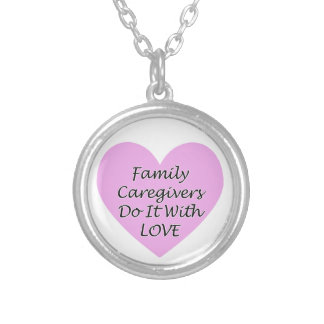 Colar Banhado A Prata Os cuidadors de família fazem-no com amor