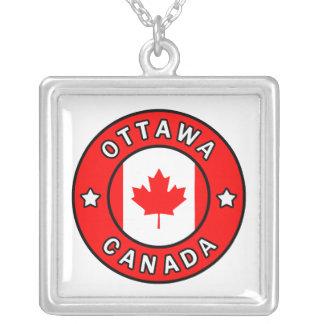 Colar Banhado A Prata Ottawa Canadá