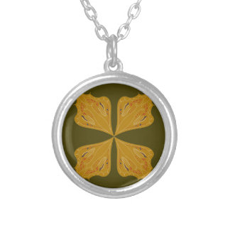 Colar Banhado A Prata Ouro das mandalas na azeitona