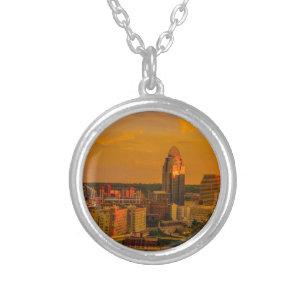 Colar Banhado A Prata Ouro de Cincinnati