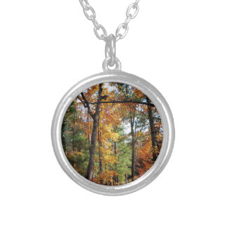 Colar Banhado A Prata Outono na floresta