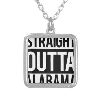 Colar Banhado A Prata Outta reto Alabama