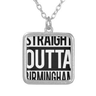 Colar Banhado A Prata Outta reto Alabama Birmingham
