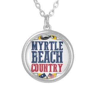 Colar Banhado A Prata País de Myrtle Beach