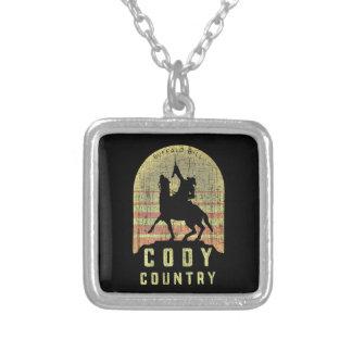 Colar Banhado A Prata País Wyoming de Cody