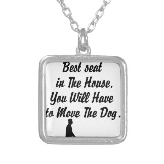 Colar Banhado A Prata para melhor Seat na casa, citações da vida