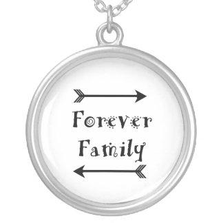Colar Banhado A Prata Para sempre família - design de Adpotion