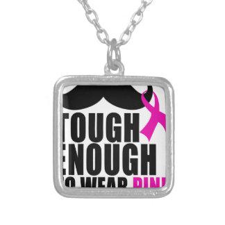 Colar Banhado A Prata Para vestir o rosa para a consciência do cancer