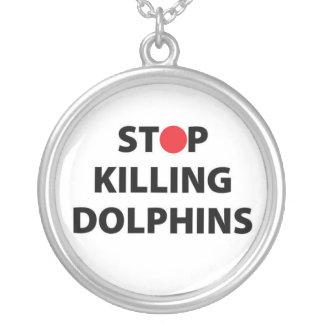 Colar Banhado A Prata Pare de matar animais de Taiji do japonês de Japão