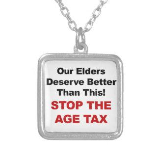 Colar Banhado A Prata Pare o imposto da idade
