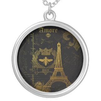 Colar Banhado A Prata Paris: Excursão Eiffel do La