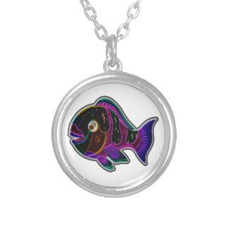 Colar Banhado A Prata Parrotfish