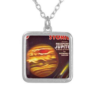 Colar Banhado A Prata Passaporte a Jupiter