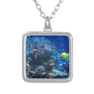 Colar Banhado A Prata Peixes subaquáticos tropicais
