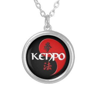 Colar Banhado A Prata Pendente de Kenpo Yin Yang