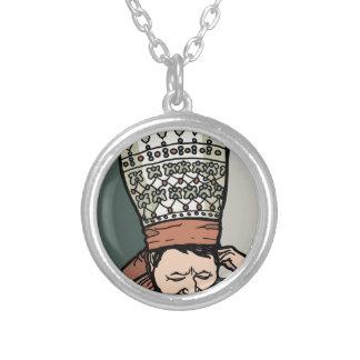Colar Banhado A Prata Pensamento asiático central da mulher (no chapéu)