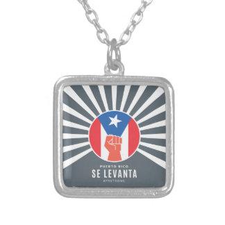 Colar Banhado A Prata Perito em software Levanta de Puerto Rico