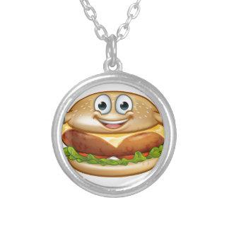 Colar Banhado A Prata Personagem de desenho animado da mascote da comida