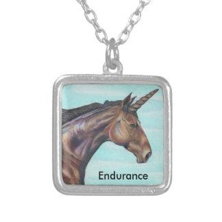Colar Banhado A Prata personalize a arte do lápis da cor do cavalo do