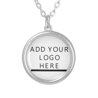 Colar Banhado A Prata Personalize - design - adicionam seu logotipo