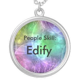 Colar Banhado A Prata Pessoas da habilidade: Edify
