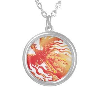 Colar Banhado A Prata Phoenix