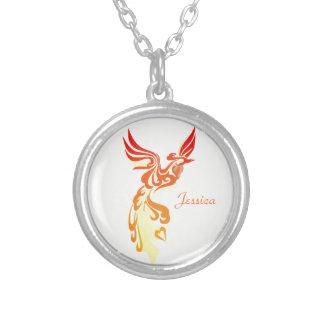 Colar Banhado A Prata Phoenix impetuoso elegante personalizado