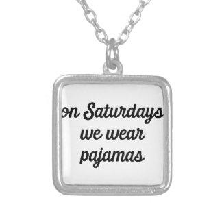 Colar Banhado A Prata Pijamas de sábado