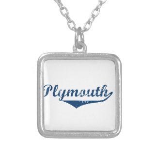 Colar Banhado A Prata Plymouth