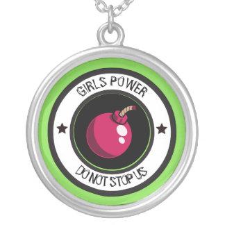 Colar Banhado A Prata Poder das meninas