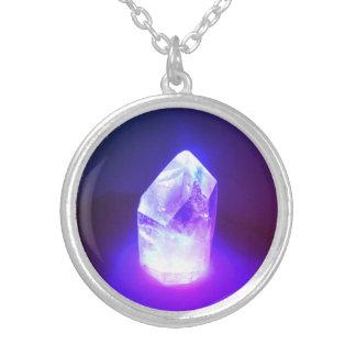 Colar Banhado A Prata Poder de cristal