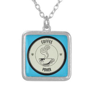Colar Banhado A Prata Poder do café