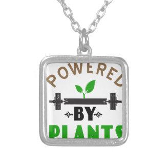 Colar Banhado A Prata poder pelo design bonito das plantas