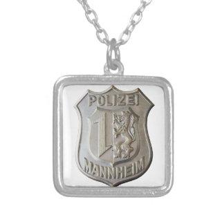 Colar Banhado A Prata Polizei Mannheim