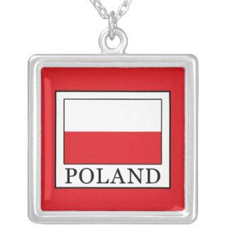 Colar Banhado A Prata Polônia