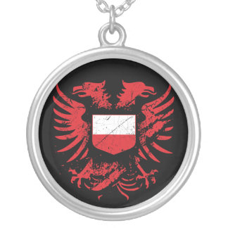 Colar Banhado A Prata Polônia Grunged