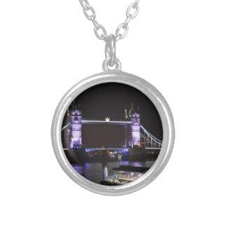 Colar Banhado A Prata Ponte da torre, Londres