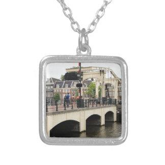 Colar Banhado A Prata Ponte magro, Amsterdão, Holland