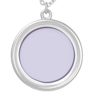 Colar Banhado A Prata Ponto do Lilac