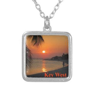 Colar Banhado A Prata Por do sol de Key West