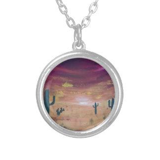 Colar Banhado A Prata Por do sol do deserto
