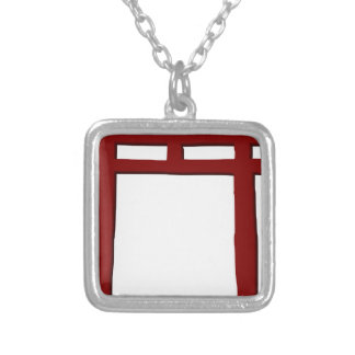 Colar Banhado A Prata Porta xintoísmo